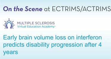 Early brain volume loss on interferon predicts disability progression after 4 years