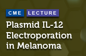 Plasmid IL-12 Electroporation in Melanoma
