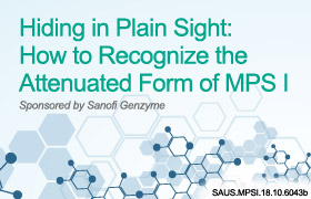 Hiding in Plain Sight: How to Recognize the Attenuated Form of MPS I