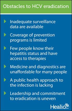 Obstacles to HCV eradication