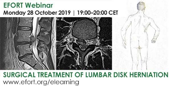 EFORT webinar on treatment of lumbar disk herniation