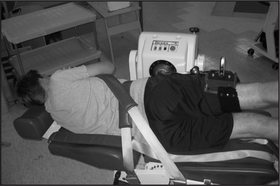 Positioning of Participants During Hip Abduction Isokinetic and Isometric Strength Assessment.