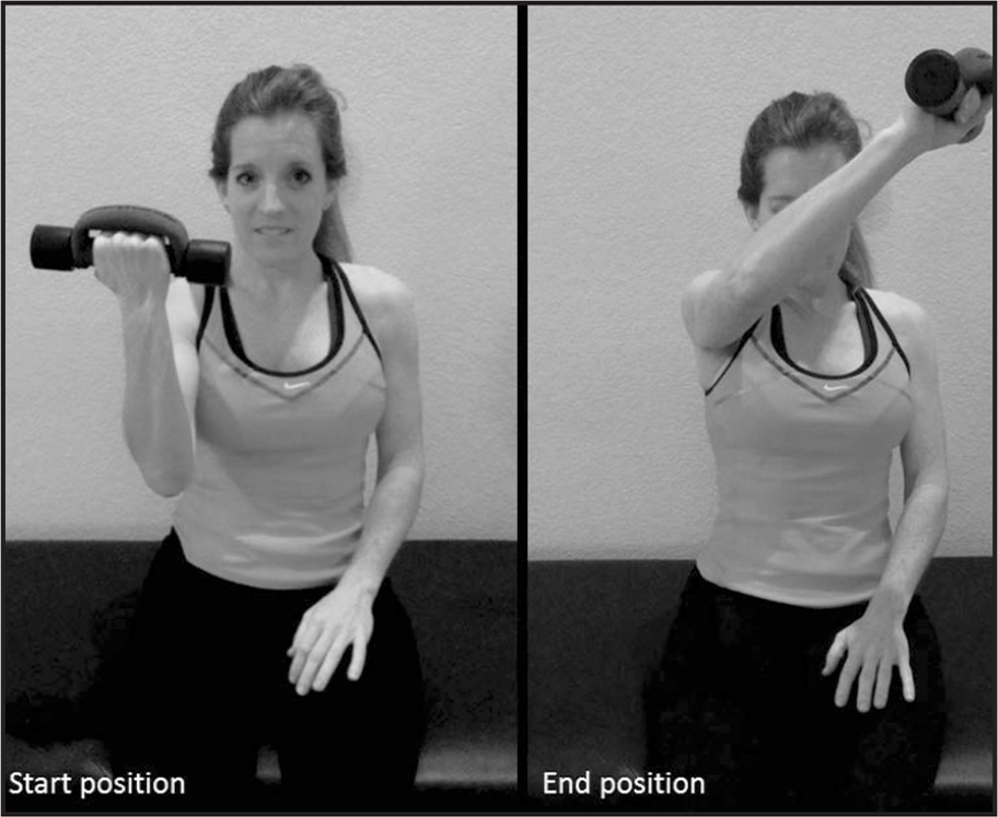 Sitting diagonal rehabilitation exercise.