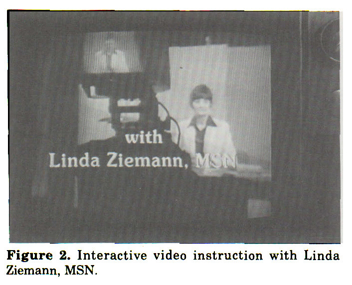Figure 2. Interactive video instruction with Linda Ziemann, MSN.