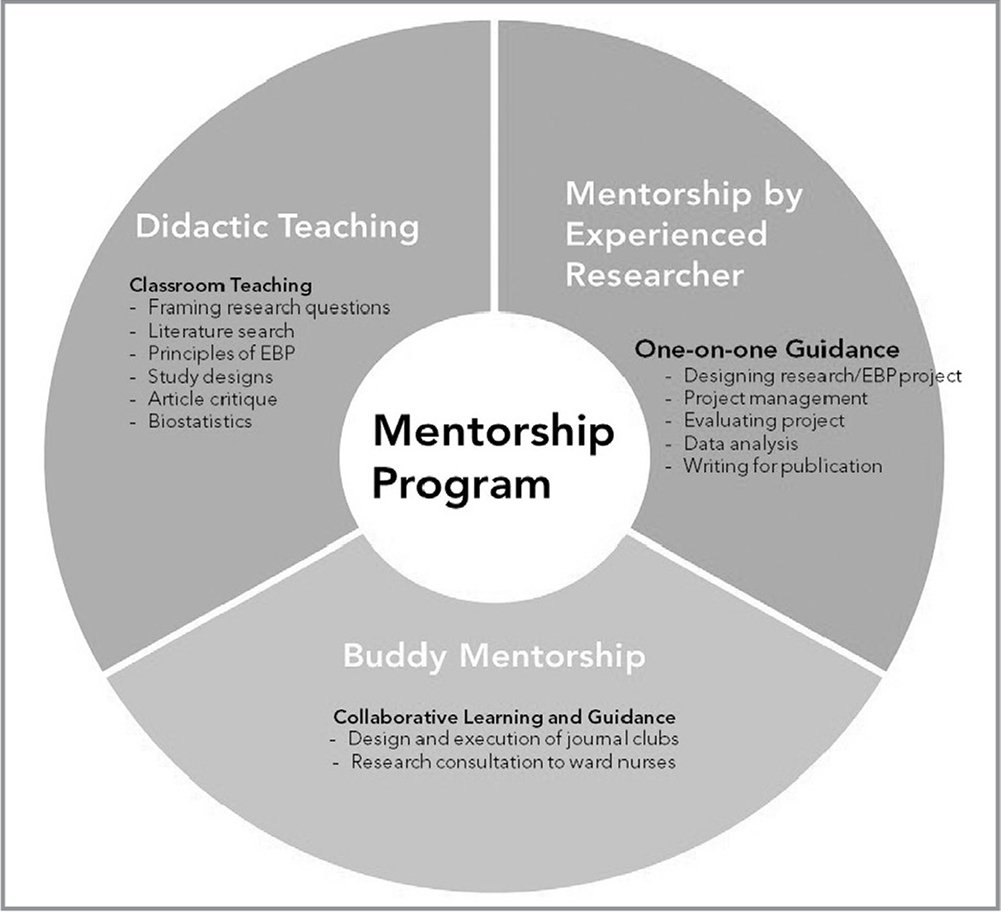 Research and evidence-based practice (EBP) mentorship program.