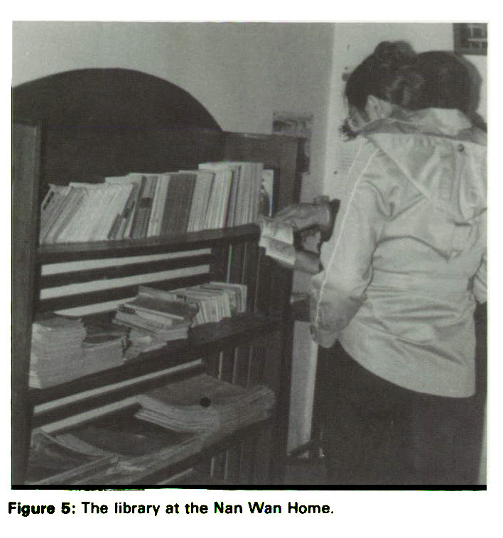 Figure 5: The library at the Nan Wan Home.