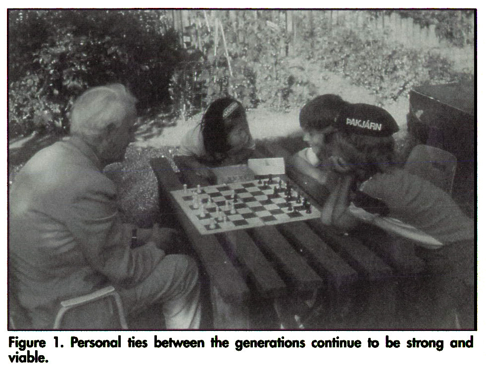 Figure 1. Personal ties between the generations continue to be strong and viable.