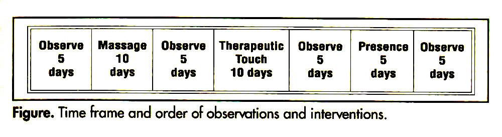 Figure. Time frame and order of observations and interventions.