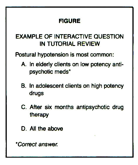 FIGUREEXAMPLE OF INTERACTIVE QUESTION IN TUTORIAL REVIEW