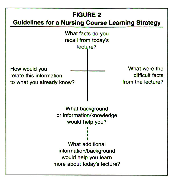 FIGURE 2Guidelines for a Nursing Course Learning Strategy
