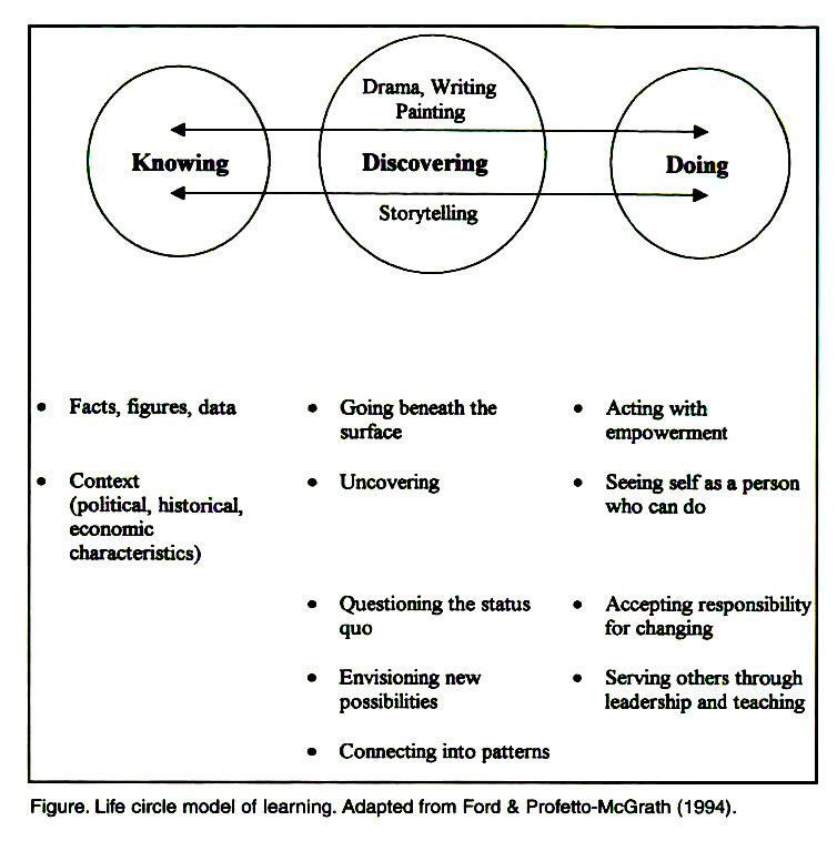 Figure. Life circle model of learning. Adapted from Ford & Profetto-McGrath (1994).