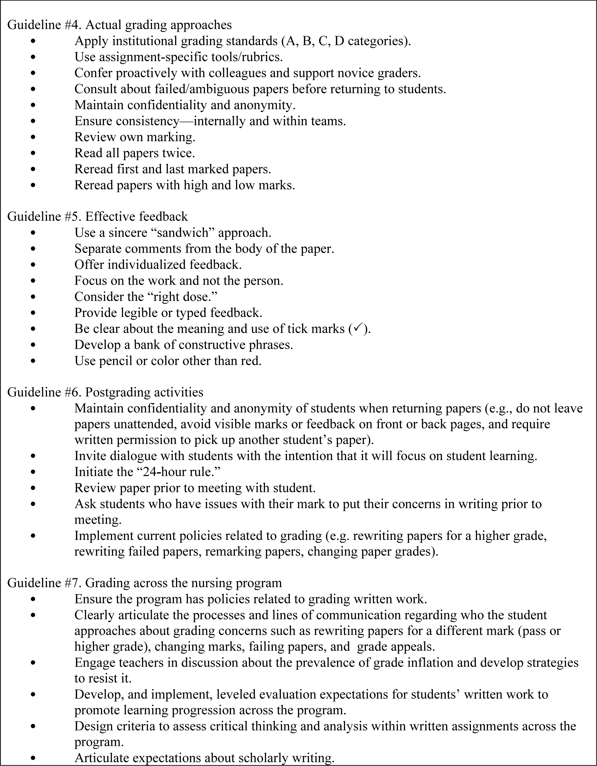 research paper grading practices Research in writing instruction: what we know and what we need to know  each paper is rated on a 6-point rubric,  and teachers' practices and professional.