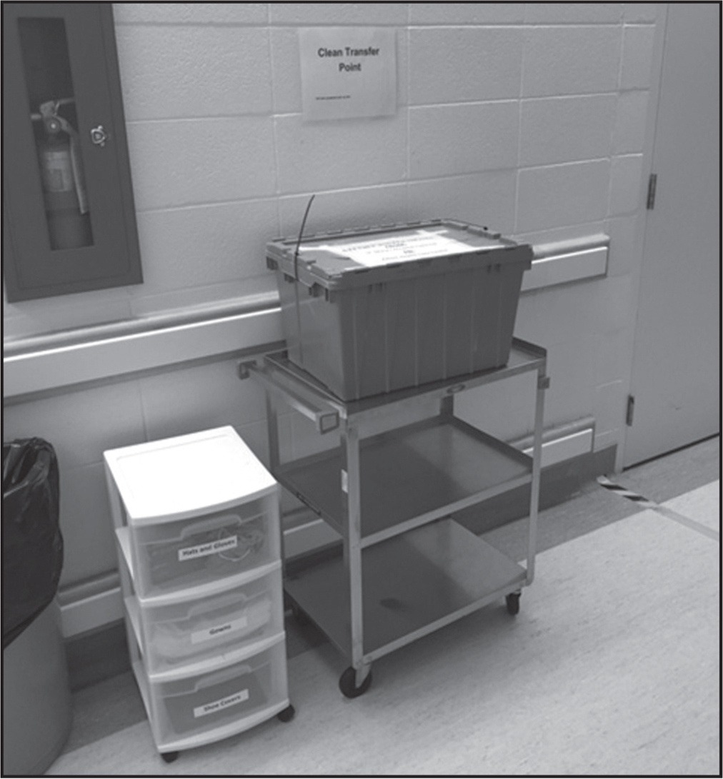 Participant photograph of sterile equipment.