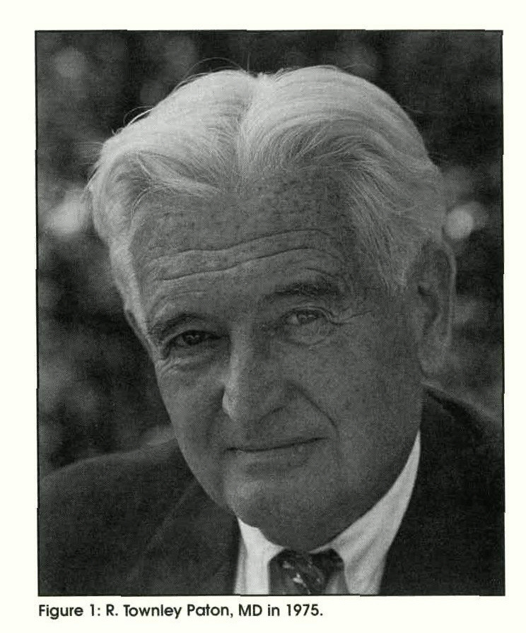 Figure 1: R. Townley Paton, MD in 1975.