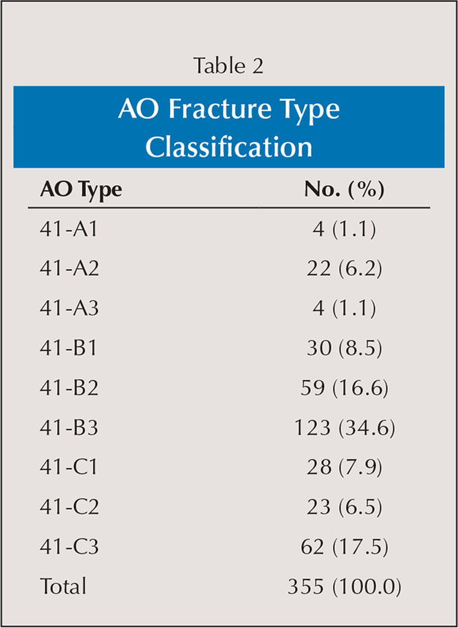 AO Fracture Type Classification