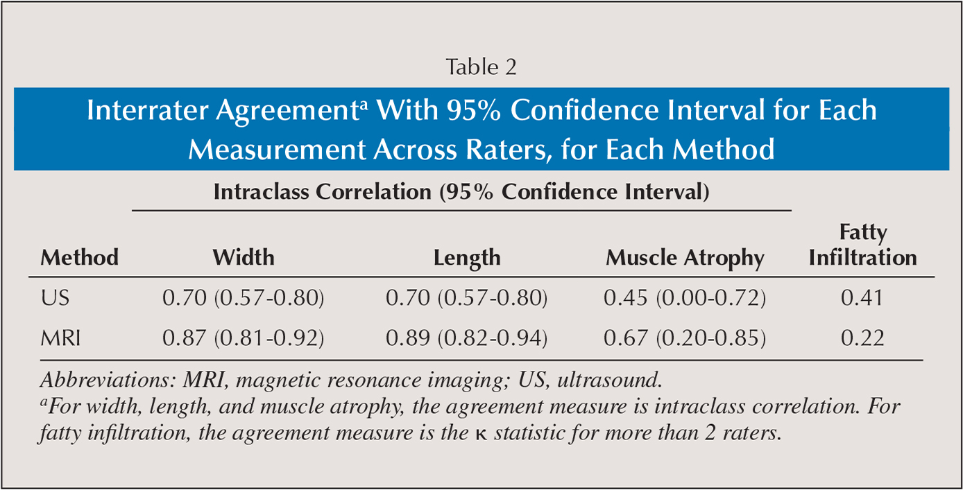 Interrater Agreementa With 95% Confidence Interval for Each Measurement Across Raters, for Each Method