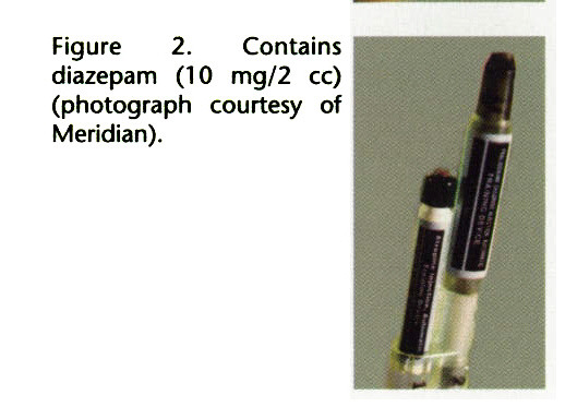 Figure 2. Contains diazepam (10 mg/2 cc) (photograph courtesy of Meridian).