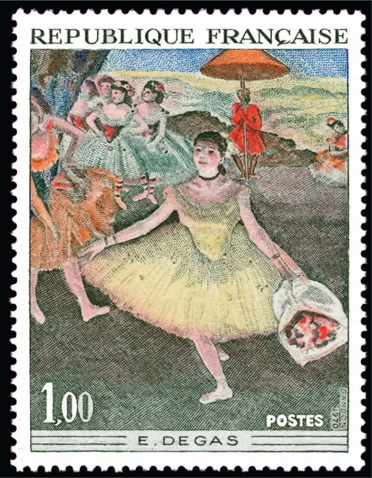 This Stamp of a Degas Painting Illustrates One Kind of Physical Activity that Adolescents May Be Involved in that Can Lead to Physical and Psychologic Issues.