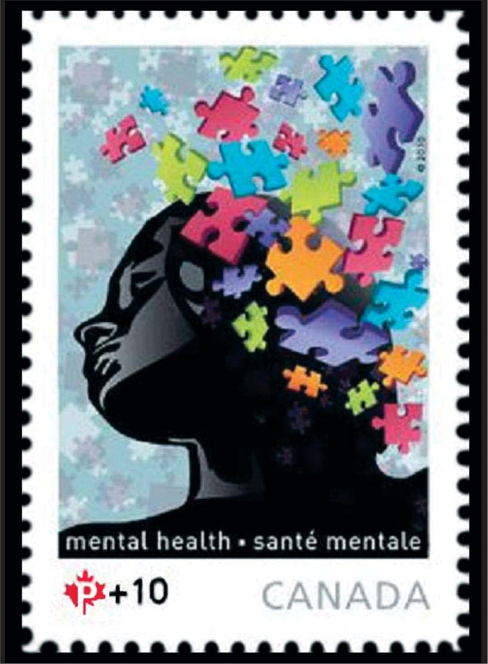 Since 2008, Canada has issued a stamp to benefit the Canada Post Foundation for Mental Health. This stamp, issued in September, is the latest in the series.
