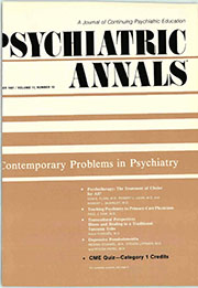 Psychiatric Annals