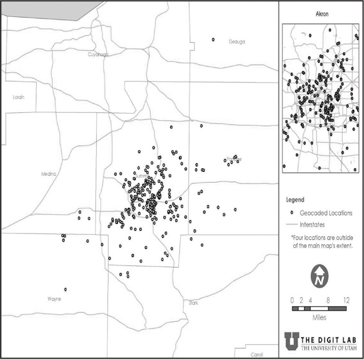 geocoding to manage missing data in a secondary analysis of community
