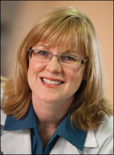 Gina Lundberg, MD, FACC, said it is important<br>for cardiologists to call attention to stroke risk in women.