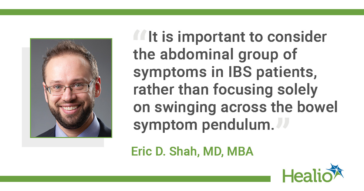 Infographic on abdominal pain in IBS