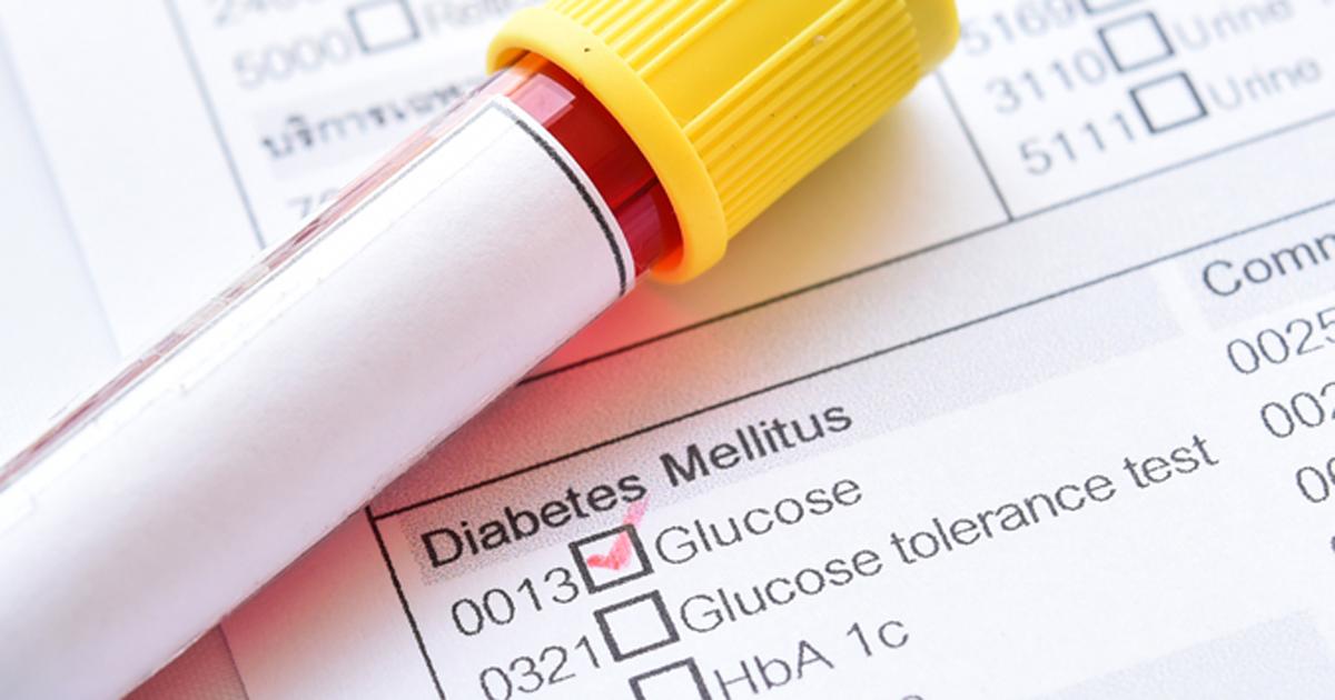 Diabetes glucose test 2019