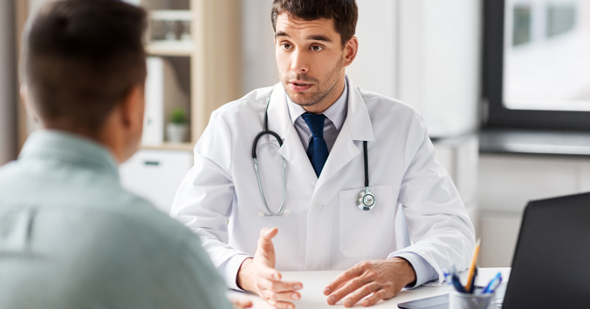 Doctor male patient middle age 2019