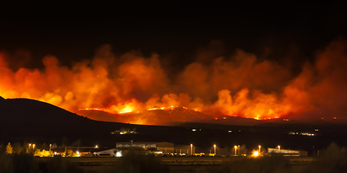 Photo of a wildfire